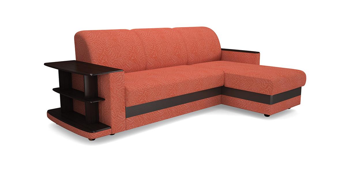 Угловой диван Виза 08 трапеция с барным столиком