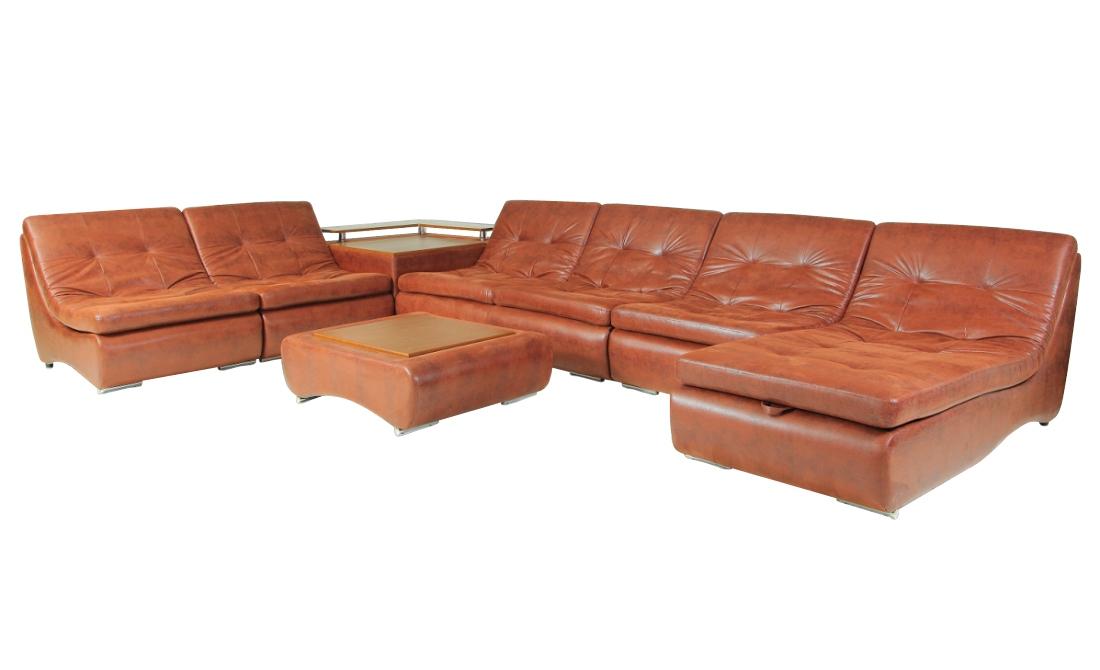 Угловой модульный диван Монреаль-7 модульный угловой шкаф виго