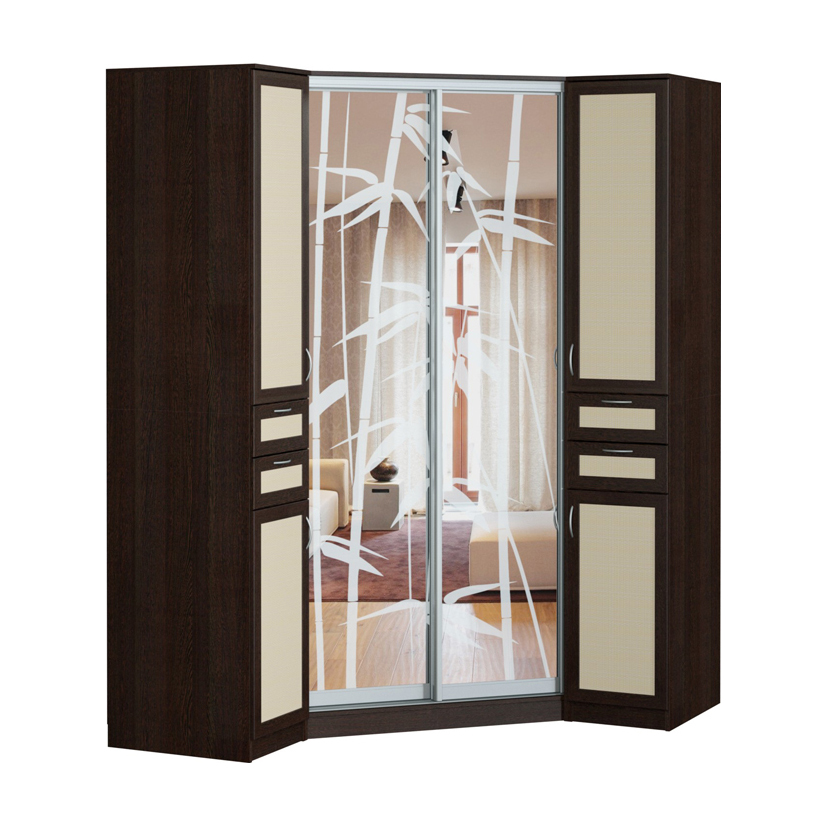 Купить угловой радиусный шкаф купе недорого корпусная мебель.