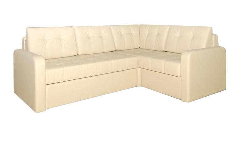 Угловой диван Рондо-4Угловые диваны<br>Размер: 210х150 (сп. м. 147х217)<br><br>Механизм: Дельфин<br>Каркас: Деревянный<br>Полный размер: 210х150<br>Спальное место: 128х190<br>Доступны другие размеры: Нет<br>Высота сиденья (см): 44<br>Высота подлокотника (см): 59, ножек 2,5<br>Глубина сиденья (см): 66, с подушками 47<br>Наполнитель: ППУ высокой плотности (Пенополиуретан)<br>Комплектация: БЕЗ ящика для белья<br>Примечание: Доставляется в разобранном виде<br>Изготовление и доставка: 8-10 дней<br>Условия доставки: Бесплатная по Москве до подъезда<br>Условие оплаты: Оплата наличными при получении товара<br>Доставка по МО (за пределами МКАД): 30 руб./км<br>Доставка в пределах ТТК: Доставка в центр Москвы осуществляется ночью, с 22.00 до 6.00 утра<br>Подъем на грузовом лифте: 700 руб.<br>Подъем без лифта: 350 руб./этаж (включая первый)<br>Сборка: 300 руб. в день доставки, заказать сборку Вы можете, если у Вас оформлена услуга подъем/занос изделия в помещение<br>Гарантия: 12 месяцев<br>Производство: Россия<br>Производитель: ГРОС