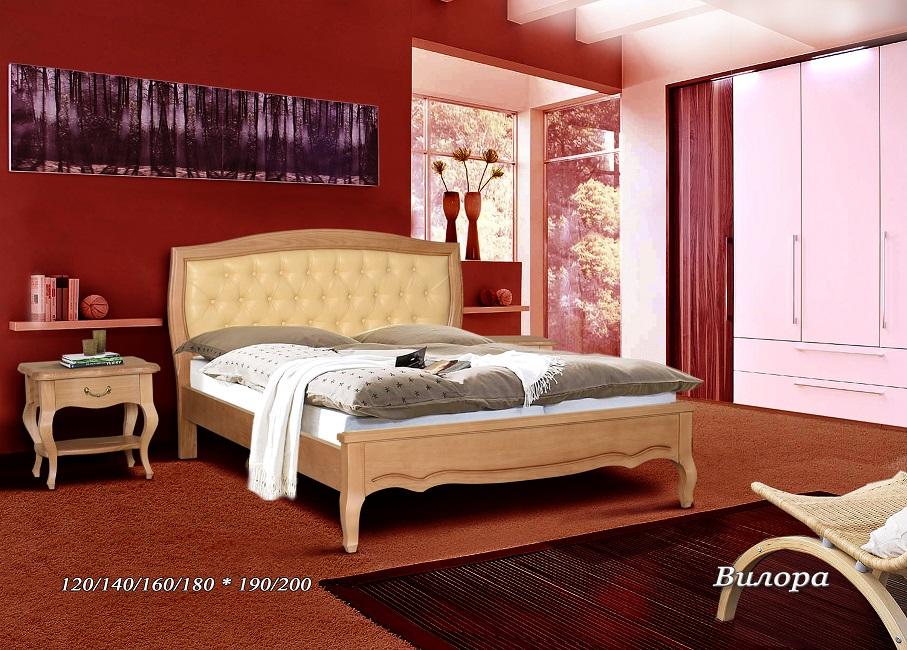 Кровать Вилора (Кожа)