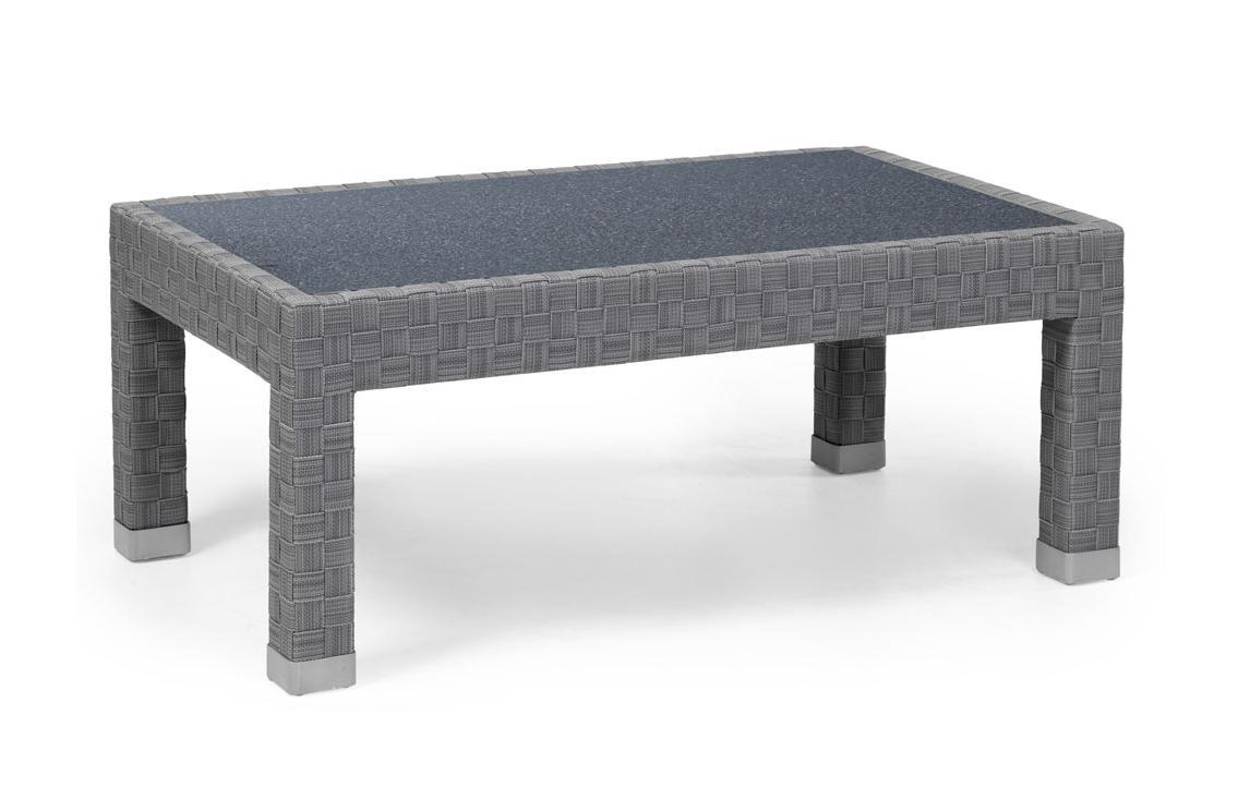 Плетеный стол Forum grey фото