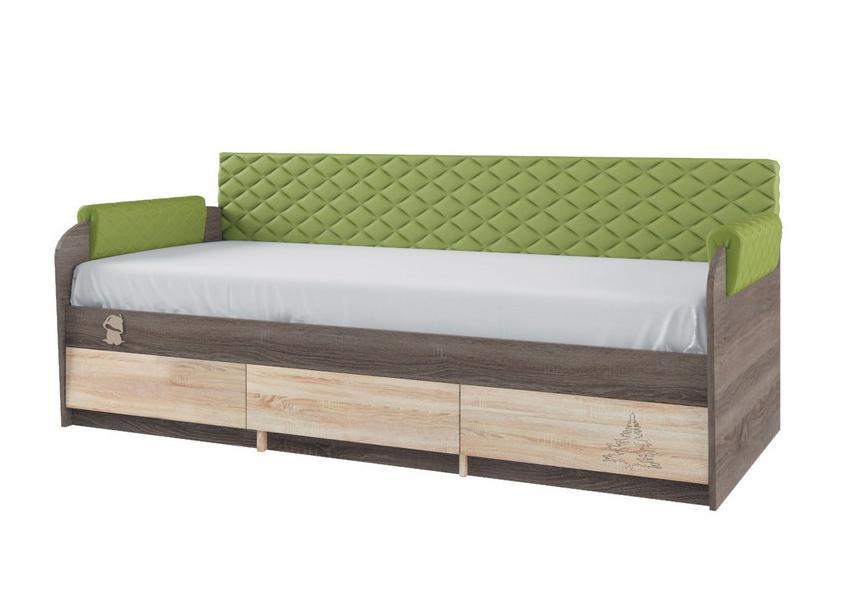 Кровать 12М Серия МДК 4.14 — Кровать №12.1, спинка 7.1, подлокотники 1.1
