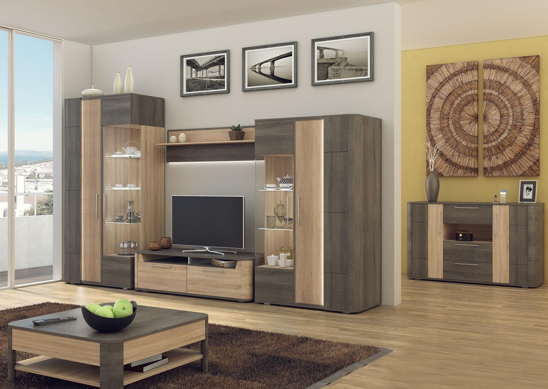Любимый дом Модульная стенка в гостиную Бруна №3 фото