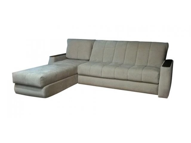Угловой диван с большим спальником