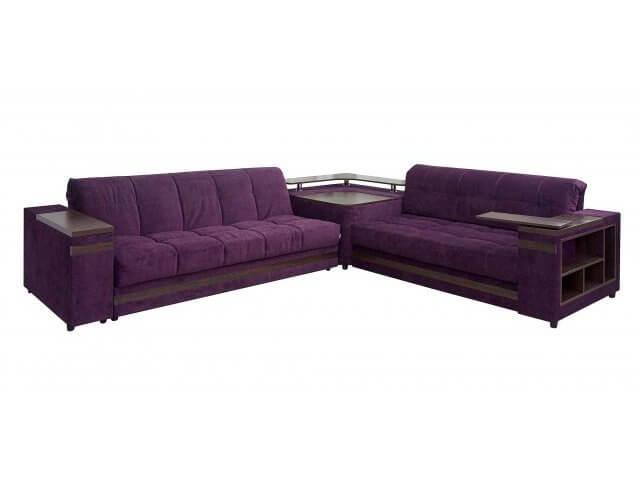 Раскладные диваны с угловой полкой