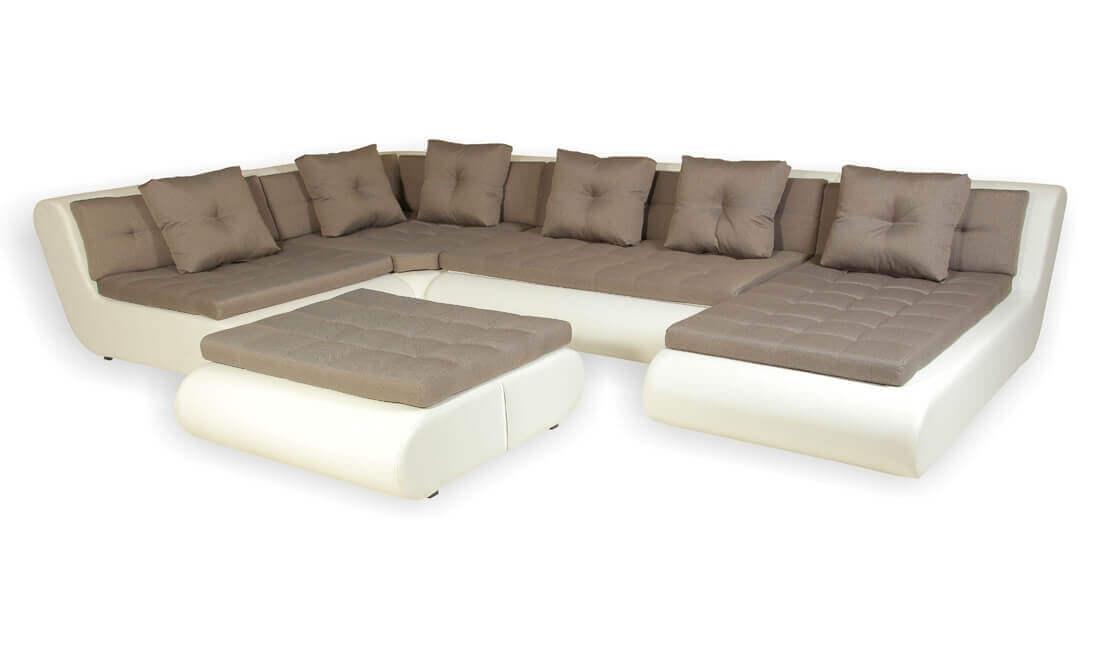 Угловые нераскладные диваны для гостиной