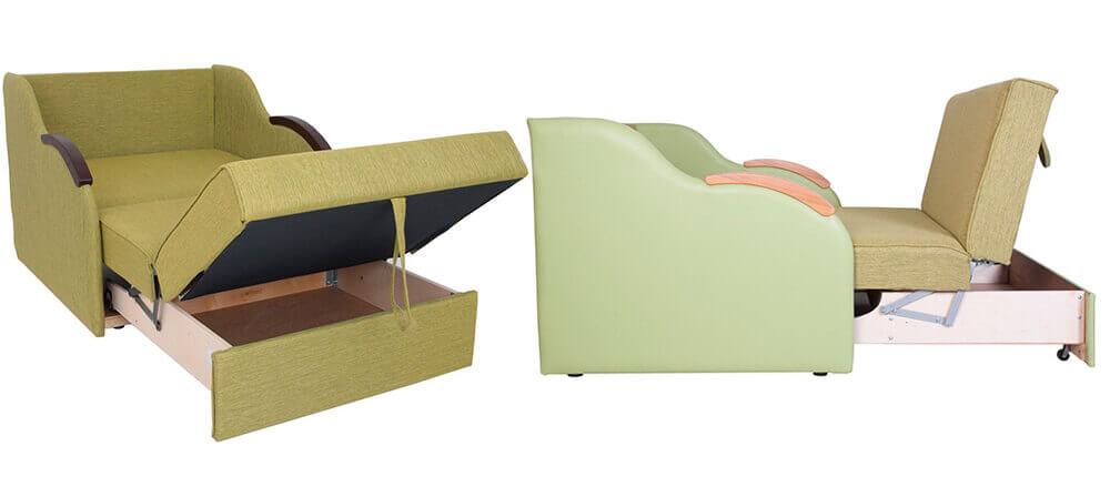Диван аккордеон с независимым пружинным блоком