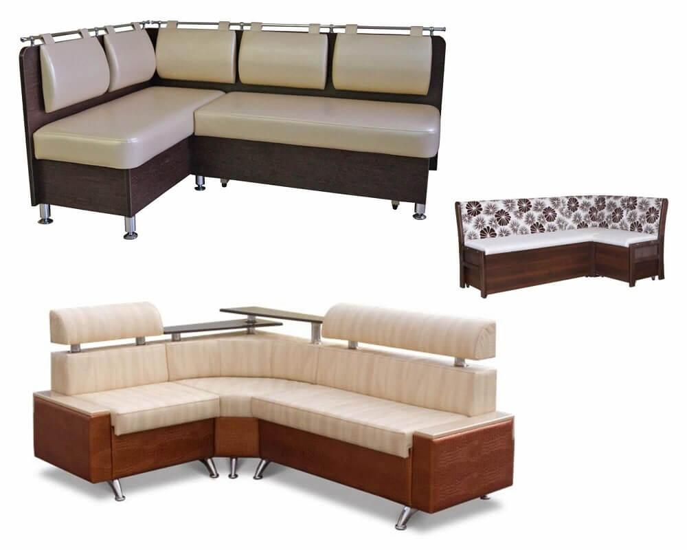 Угловой диван для кухни с ящиками