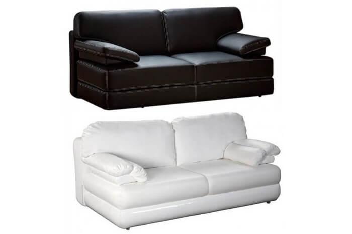 Прямой диван еврокнижка без подлокотников