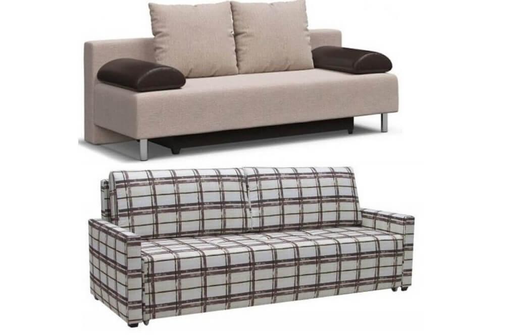 Прямой диван еврокнижка с ящиками