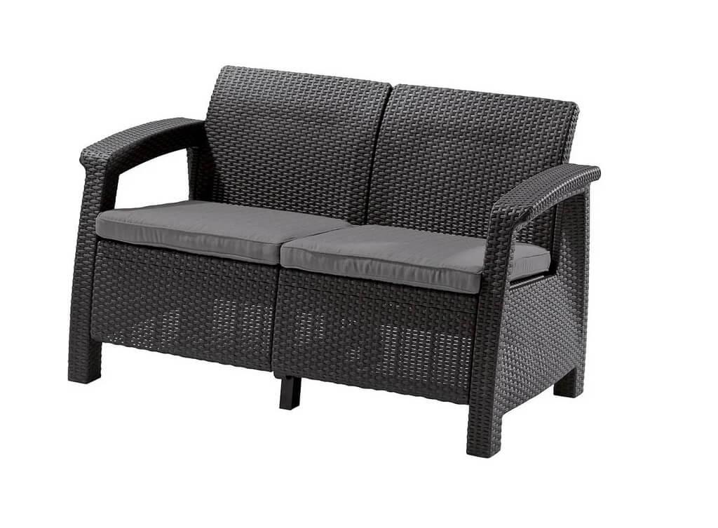 Двухместный диван из ротанга