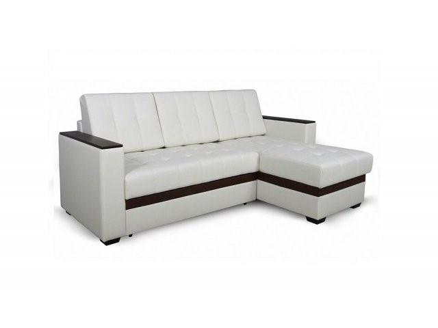 Светлый маленький угловой диван