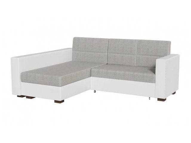 Светлый раскладной угловой диван