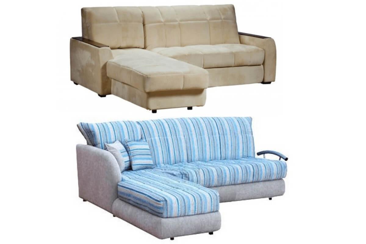 Угловые диваны со спальным местом аккордеон