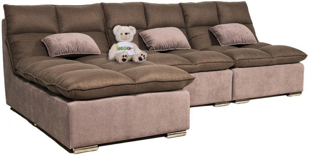 Широкий угловой диван с механизмом пума