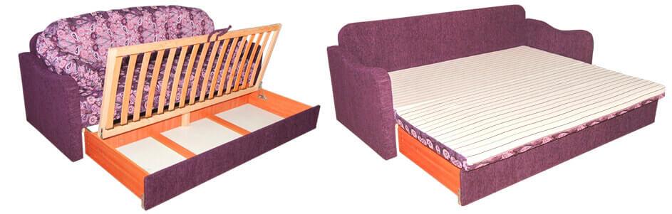 Выкатной диван со спальным местом