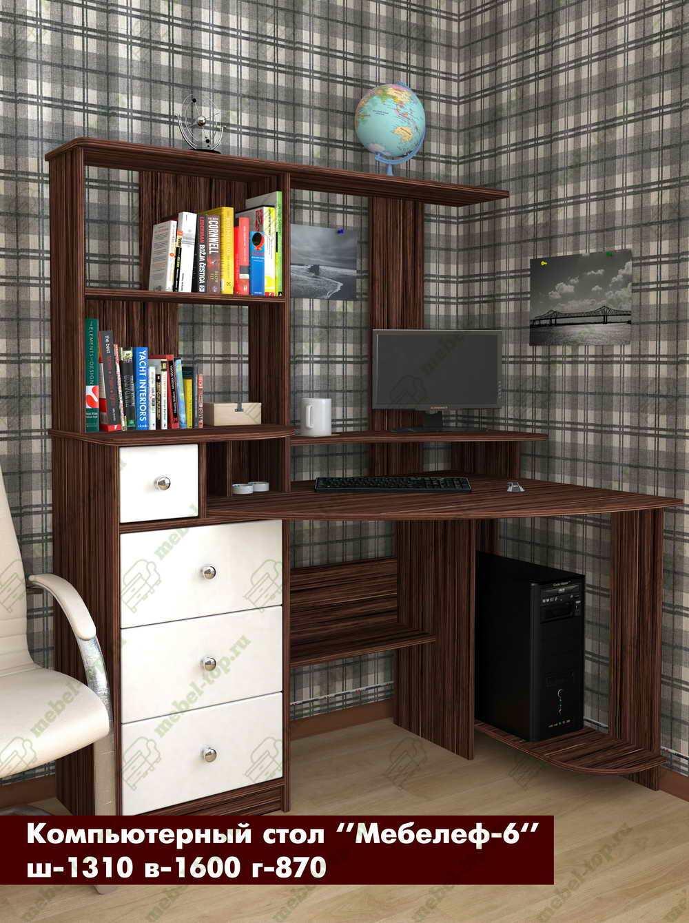 Стол для компьютера Мебелеф 15689463 от mebel-top.ru