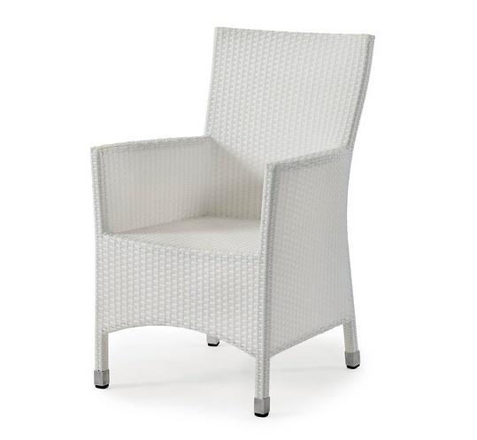 Плетеное кресло Cora-2 white фото