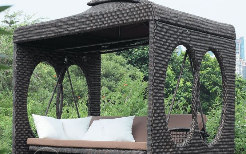 Садовые качели из искусственного ротанга Derong