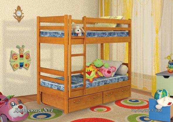 Двухъярусная кровать Детская №1