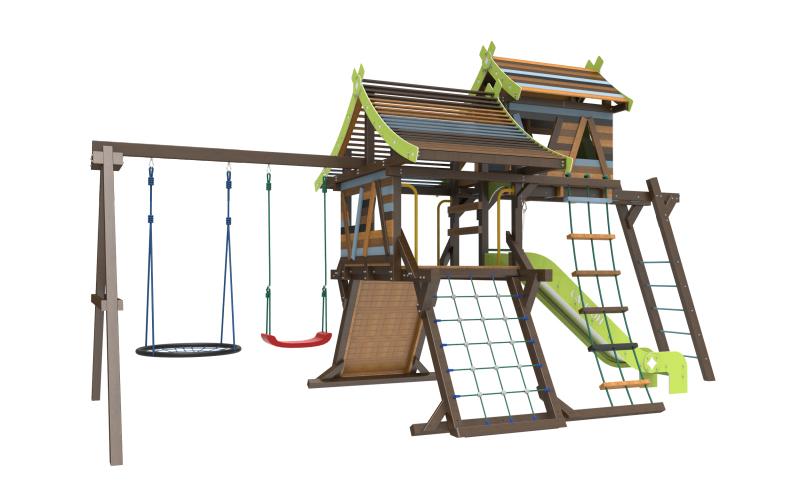 Детская игровая площадка Хижина Аквитания фото