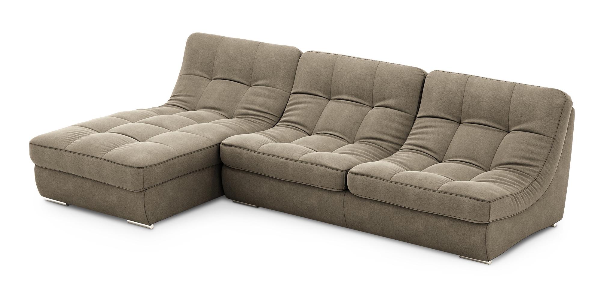 Угловой диван Палермо с оттоманкой LAVSOFA