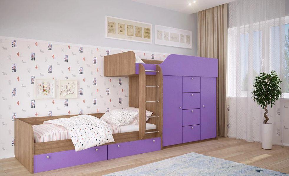 Детская двухъярусная кровать ДМ 45