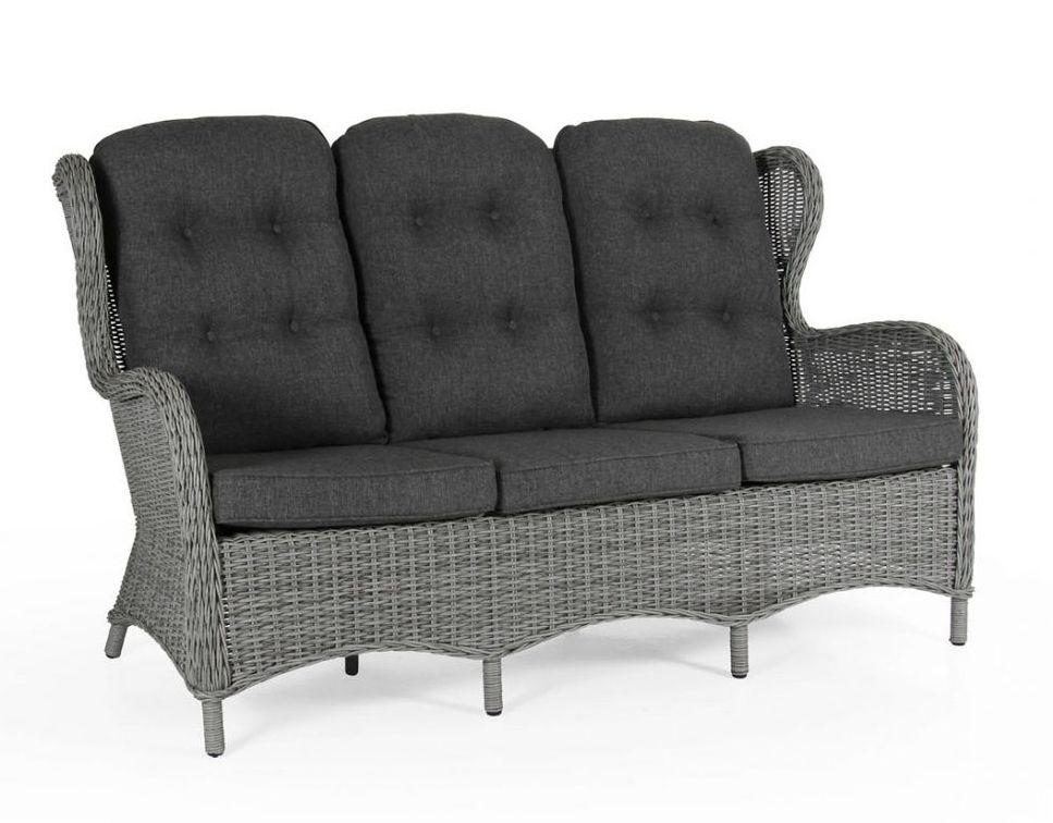Плетеный диван Evita grey