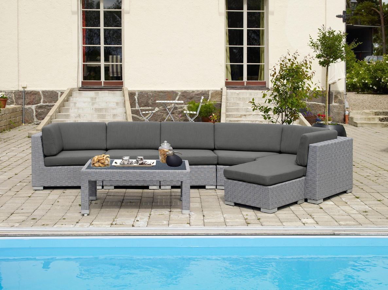 Комплект плетеной мебели FORUM grey фото
