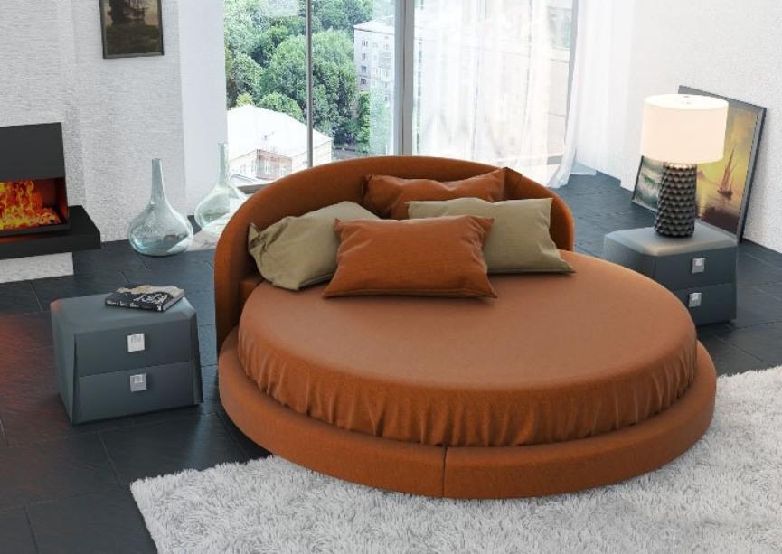 Круглая кровать Вала — Круглая кровать Вала с матрасом