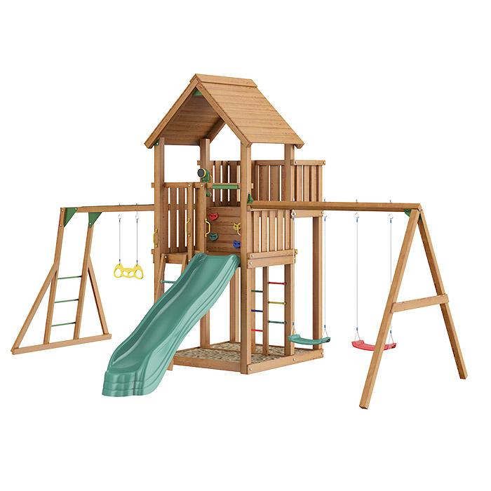 Игровой комплекс Jungle Palace+Swing X'tra+рукоход с кольцами