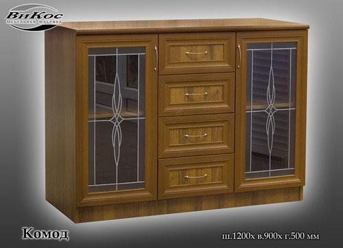 Комод со стекло-дверьми