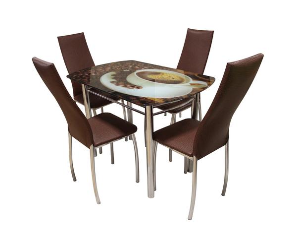 Обеденный стол АРТ-Пион кофе