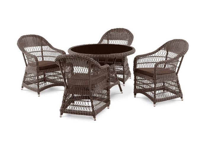 Комплект мебели из искусственного ротанга 4+1 T306 Y-306 фото