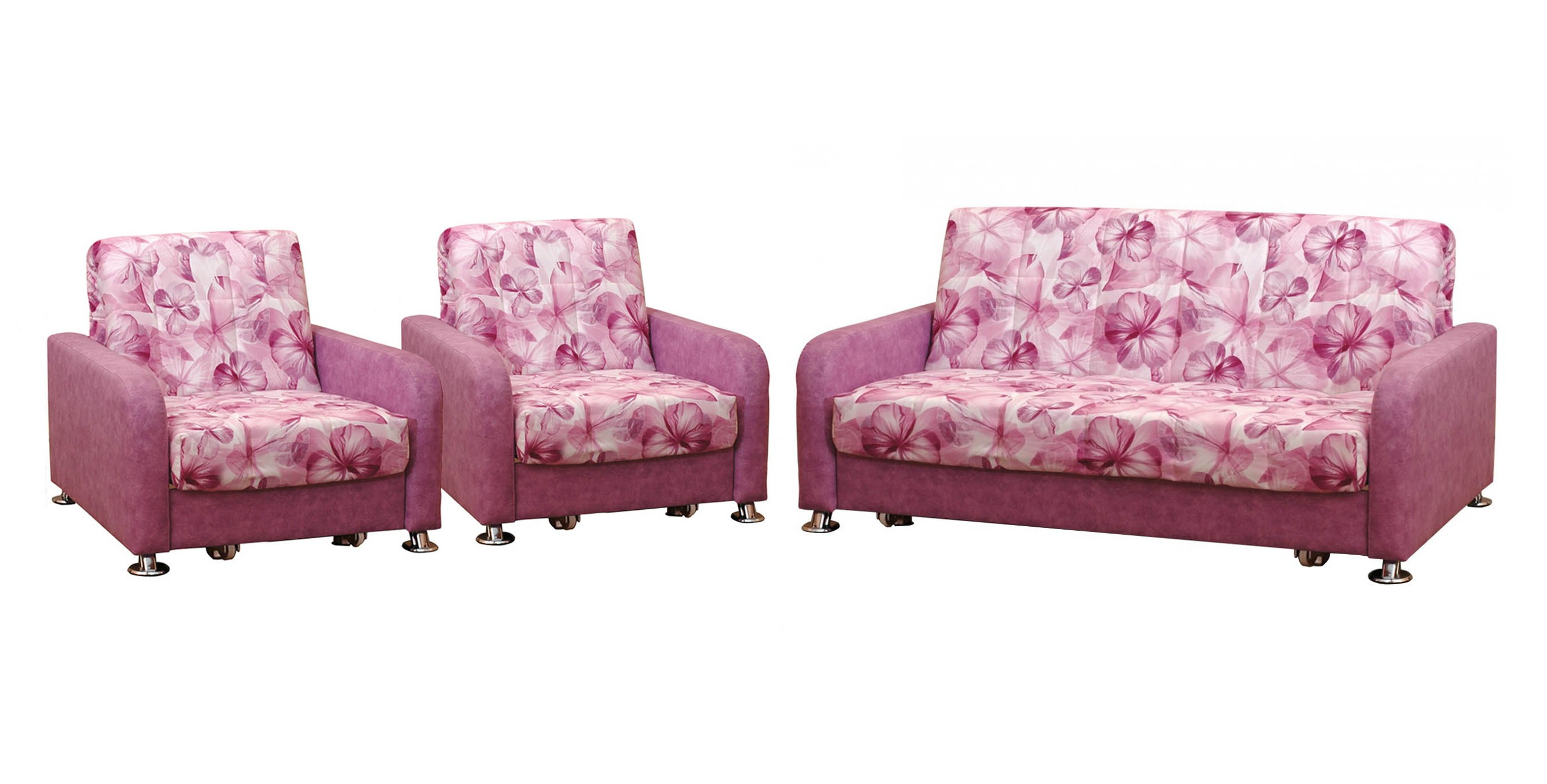 Комплект мягкой мебели Аккорд хром фото