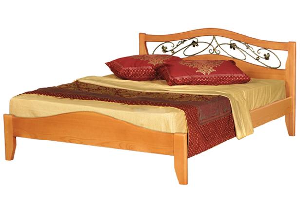 Деревянная кровать Крокус-1