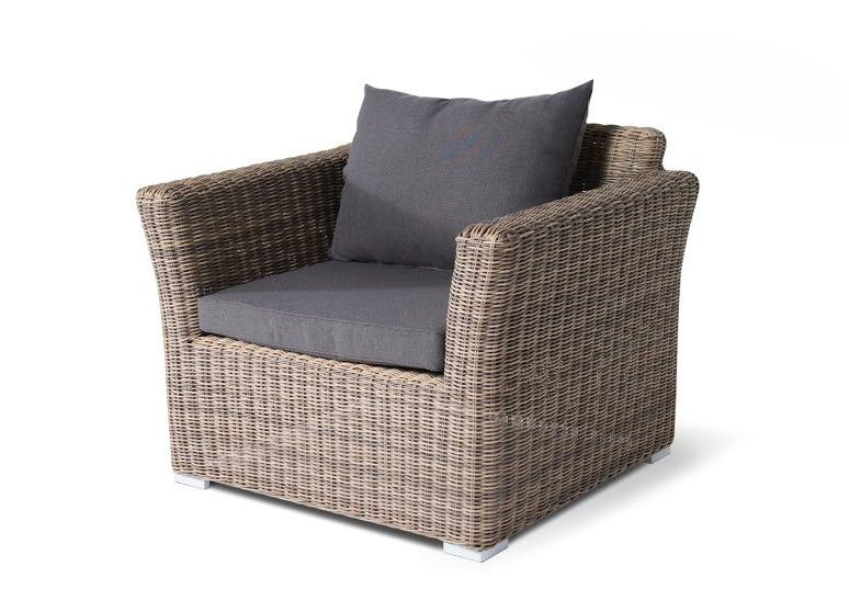 Кресло из искусственного ротанга Капучино