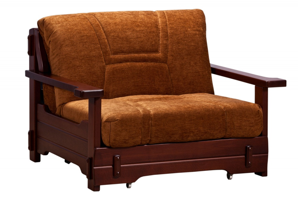 Кресло-кровать аккордеон Брест с деревянными подлокотниками — Кресло-кровать аккордеон Брест