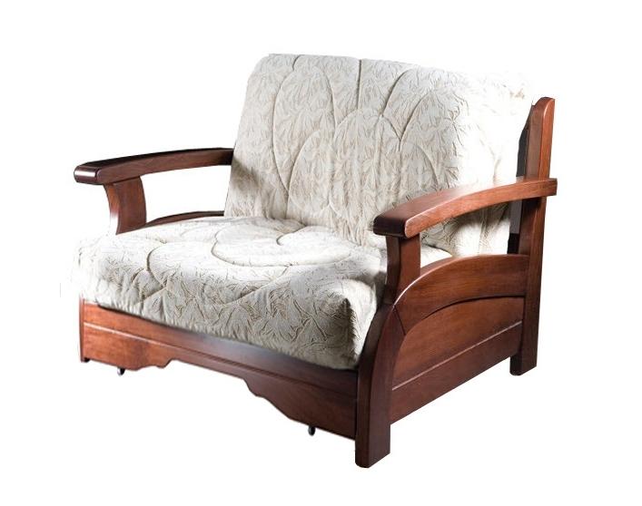Кресло-кровать Лотос с деревянными подлокотниками