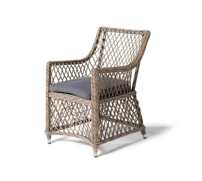 Кресло из искусственный ротанг Латте