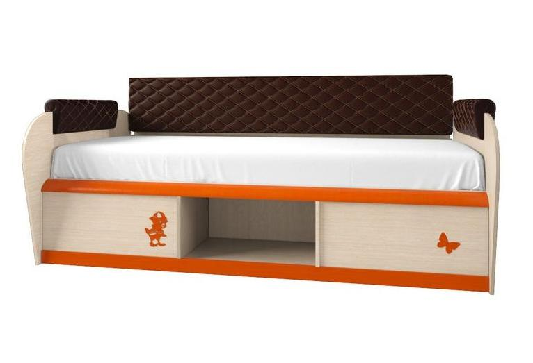 Детская кровать 12.2 со спинкой и подлокотниками серия МДК 4.13 — Детская кровать 12.2М Серия 4.13
