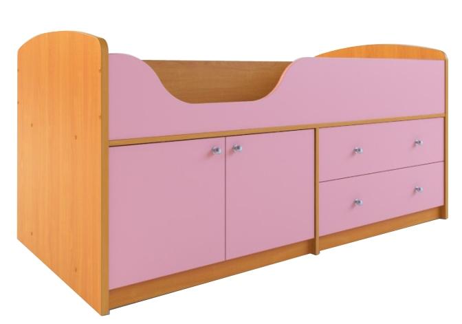 Детская кровать с ящиками Мини-007 М4 — Мини-007 М4 (Кровать, комод, шкаф)