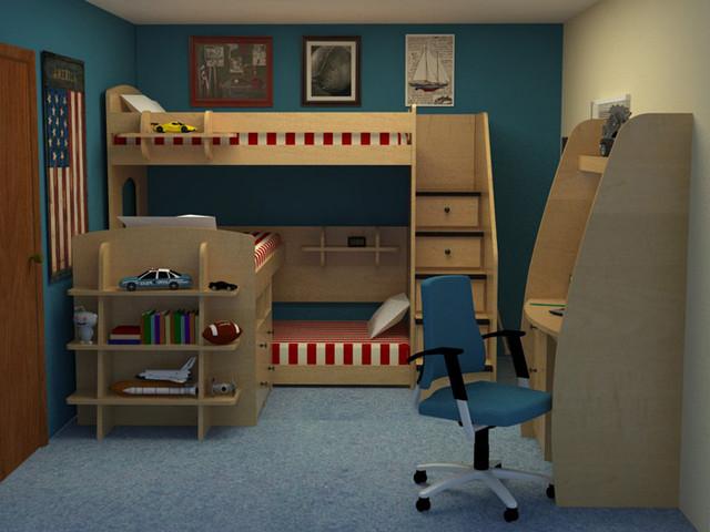 Детская двухъярусная кровать ДМ-159 фото