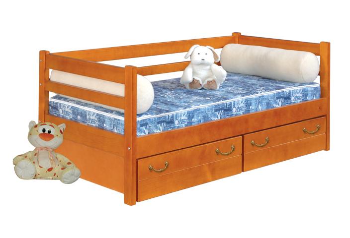 Детская кровать с ящиками №4