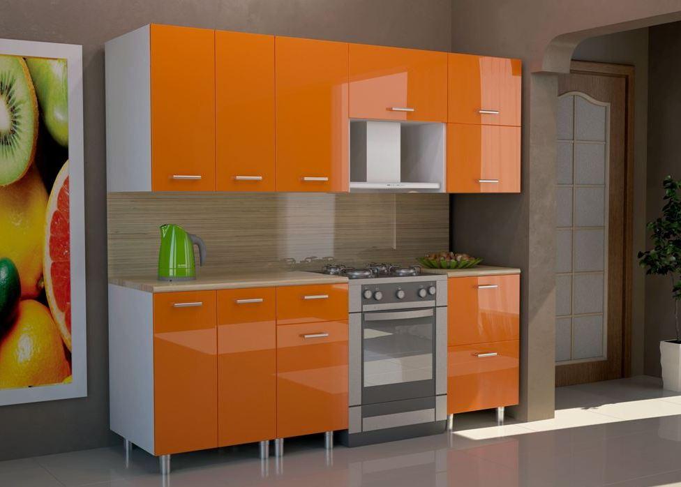 Кухонный гарнитур Венеция-Оранж 1600 фото