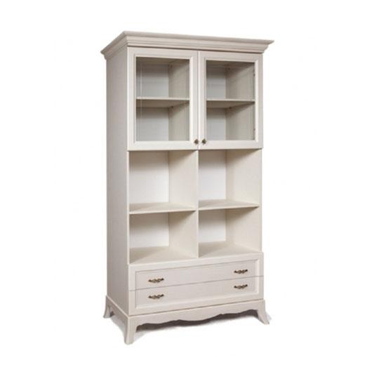 Шкаф двухдверный Амели (два ящика и два витража)