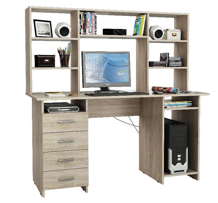 Компьютерный стол Милан-6 с надставкой фото