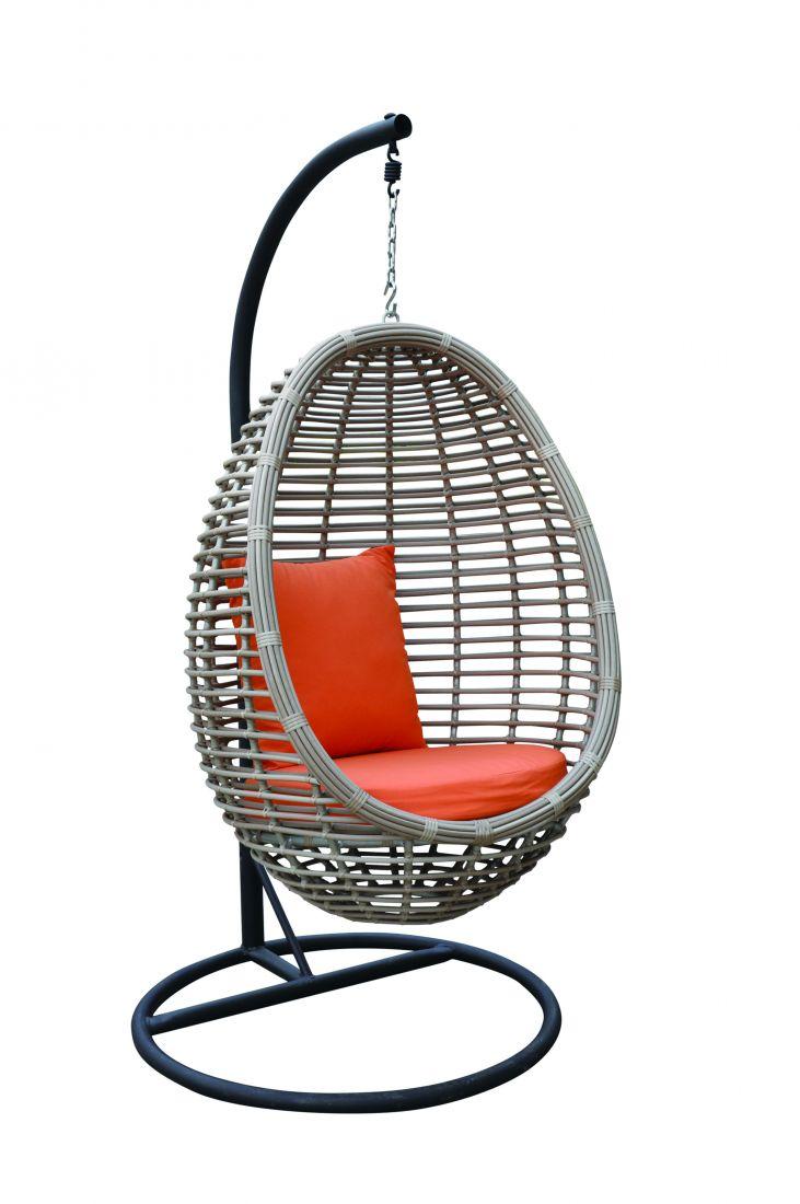 Подвесное кресло из ротанга Peony