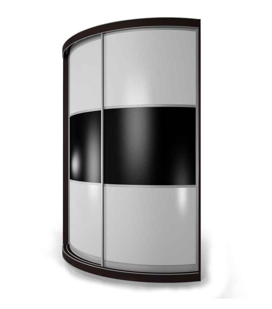 Радиусный шкаф-купе Мебелайн-14 фото